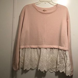 Charmed Hearts Pink and Lace Top
